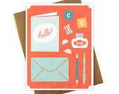 Hello - Snail Mail - Greeting Card