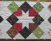 Christmas Stars On Point Quilted Table Runner Moda Nature's Gift Deb Strain