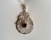 Sterling Silver and Garnet Pendant