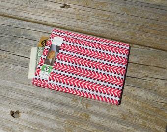 Card Sleeve, Minimalist Wallet, Baseball Stitching, One of a Kind