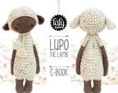 LUPO the lamb / sheep • lalylala crochet pattern / amigurumi