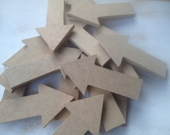 15 Mixed Lot Unpainted Wooden Arrows, Unfinished Wood Arrows Crafting Supplies