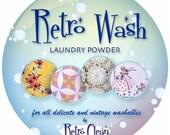 Retro Wash Laundry Powder - clean vintage linens, lace or clothing - 1 lb pound