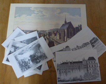 Assorted French Historic Prints Ideal for Framing