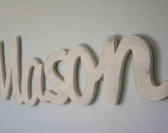 Large Baby Name Sign, Wooden Name, Nursery Decor, Personalized, Above the Crib Name, Extra Large, Nursery Statement Piece