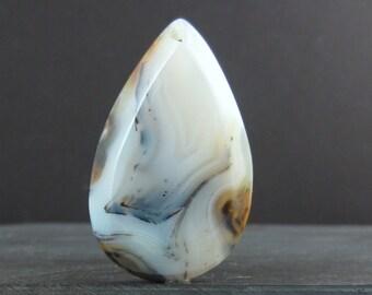 SALE Beautiful  Dendritic Agate pendant ,  Semiprecious stone, Jewelry making Supplies S6669