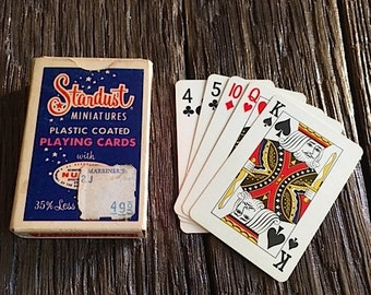 Stardust Las Vegas Hotel And Casino Mini Playing Cards Vintage Stardust Collectible Mini Playing Cards