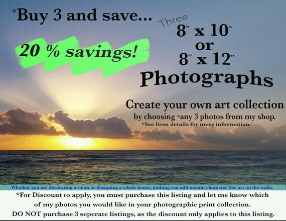 Sale Fine Art Photography print set  Beach Botanical Hawaii Maui Sunset Wall Art  Home Decor Design Collection Discount  Any 3  8x12 or 8x10