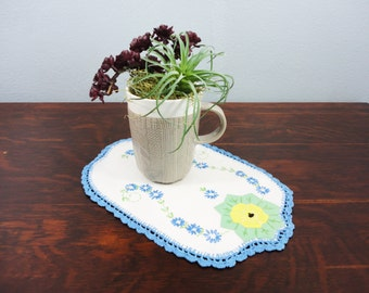 Repurposed Vanity Linen - Now Mug Rug  OOAK