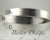 Design Your Own Bracelet - 3/8 Inch Hand Stamped Bracelet by Berkey Designs