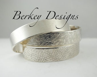 Keepsake Sterling Design Your Own Custom Wedding Secret Message Hand Stamped Cuff Bracelet.
