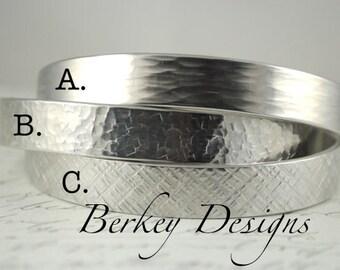 Design Your Own Bracelet - 3/8 Inch Hand Stamped Bracelet by Berkey Designs
