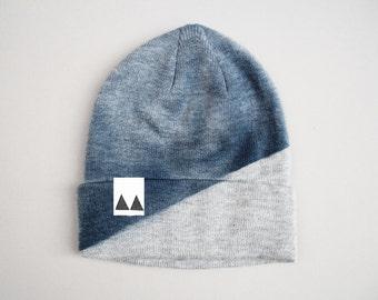 Bonnet Gris claire/Bleu Acrylique