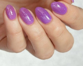 The Knight Bus - custom Harry Potter inspired purple jelly holographic lavender glitter nail polish