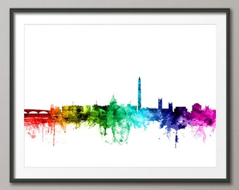 Washington DC Skyline, Cityscape Art Print (2433)