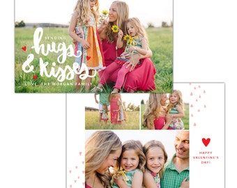 INSTANT DOWNLOAD - Valentine Photocard Template - e1253