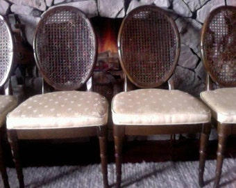 Faux Bamboo/Cane dining chairs-Set of four-Local Pick Up