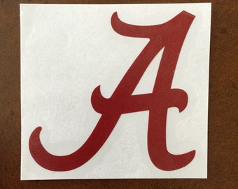"University of Alabama ""A"" Decal"
