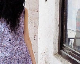 Vintage Polka Dot Dress, Extra Large retro dress