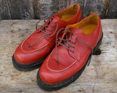 Vintage Cole Haan Red Lace Up Shoes Womens Size 7 B US