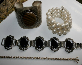 Vintage Jewelry Destash Lot of Four Bracelets