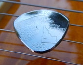 Ergonomic Metal Guitar Pick - Pick the State - Highly Polished