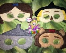 Wizard of Oz mask Dorthy mask loin mask scarecrow mask tin man mask costume