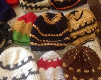 crocheted hat / kufis / prayer caps/hats /caps/accessories