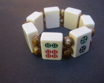 Unique Mahjong Tile Bracelet