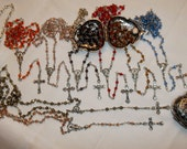 Baby rosary Blue, Gold, Pink, Gray, Purple, Peach or Orange Silver purse locket, Keepsake purse locket, Rosary locket, Small metal purse