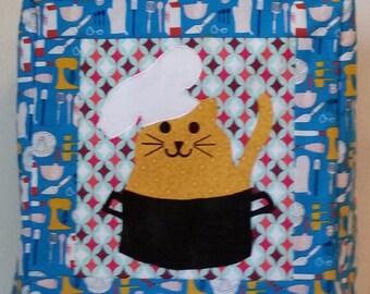 Kitchenaid Mixer Cover, Kitchen Kitty, Kitchen Accessories decor, Blue Kitchen