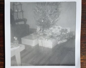 Original Antique Photograph Misty Christmas Morn 1962