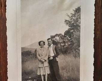 Original Antique Photograph Dreamy Duo