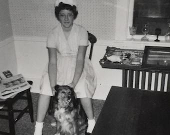 Original Antique Photograph Nurse & Nan