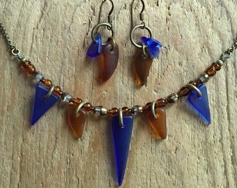 Lake Superior Beach Glass Necklace Set