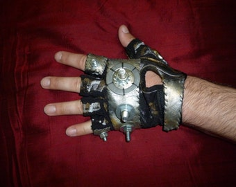 "MENS ""Berserker""- Moonhoar Monster Glove- Steampunk, Mad Max, Thunderdome, Fury Road, Burning Man, Dragon Con, Wasteland Weekend, Industrial"
