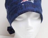 Ladies Surgical Scrub Hat - Chemo Cap - NE Patriots