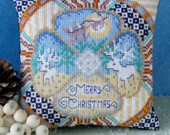Christmas Glitz Mini Cushion Cross Stitch Kit