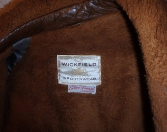 Wickfield Sportswear Men's Brown Leather Jacket