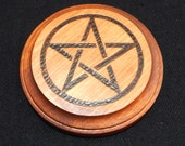 Wood Altar Pentacle- Small