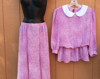 1970's Skirt and Blouse Set