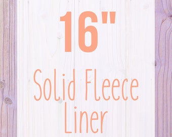 """Solid Fleece Cage Liner - 16"""" - Choose Your Size"""