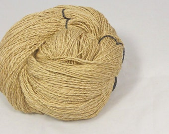 Honey Golden muga silk baby camel and optim 2 ply Hand spun natural coloured luxury yarn 2 ply lace weight