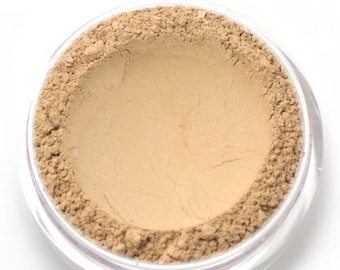 "Mineral Wonder Powder Foundation - ""Custard"" - light to medium shade with a neutral undertone - vegan makeup"