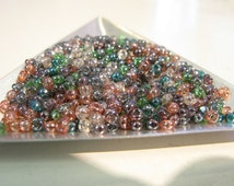 Size 8/0 Japanese Rocaille Seed Bead, Transparent Seed Bead,