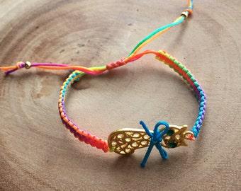 Multicolor Neon Macrame Bracelet