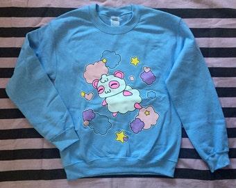 Kawaii Harajuku Fairy Kei Pop Kei Spank Pastel Goth Cartoon Anime Cotton Candy Panda Pandy sweatshirt