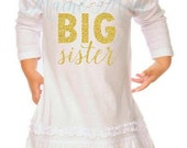 MEGA SALE ON Sale Big Sister Gold Glitter Iron On Transfer Digital Image for shirt  Outfit Birthday Dress Photo Prop  Diy Printable