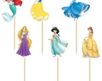Princess Cupcake Picks