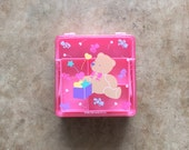 1988 SANRIO JEWELRY BOX - Teddy Bear // Pink // Hello Kitty // Cute // Kawaii // Collectible